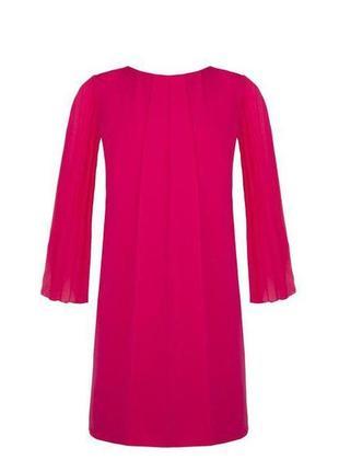 Платье розовое с шифоновыми рукавами  италия распродажа
