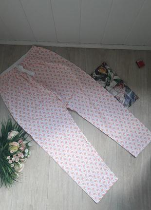Домашние штаны с фламинго размер хл
