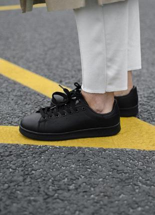 Женские кроссовки  adidas stan smith black lather  😍