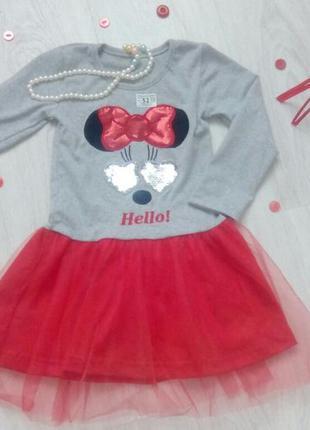 Нарядное платье для девочки 2-3 года хлопок