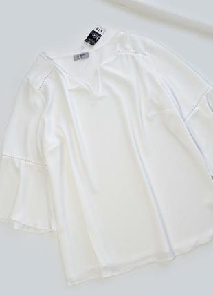 Новая белая свободная блуза