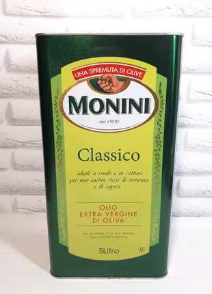 Оливковое масло MONINI Classico Olio Extra Vergine Di Oliva, 5 л