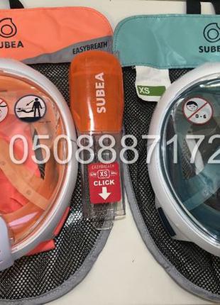 Новая оригинальная ДЕТСКАЯ маска для снорклинга SUBEA Easybrea...