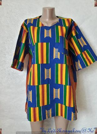 Новая красочная яркая рубашка с короткими рукавами с хлопка, р...