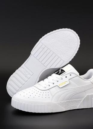 Puma cali white белые ♦ женские кроссовки ♦ весна лето осень