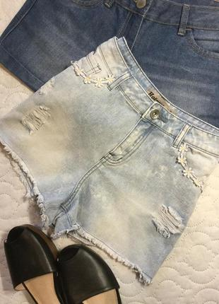 Шорты джинсовые с высокой посадкой new look 10 размер