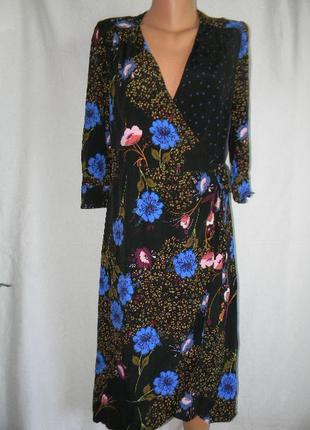 Натуральное платье на запах next