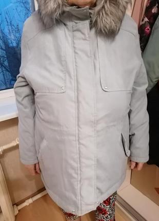 Крутая куртка-парка с мехом шерпа батал большой размер bonmarc...