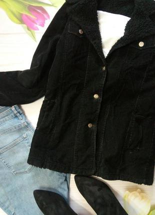 🌹вельветовый жакет куртка с овчиной🌹