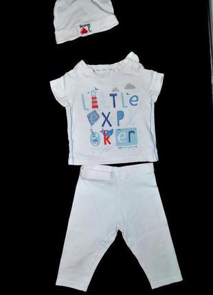 Комплект лот одежды для новорожденного 3 мес штаны кофта шапка