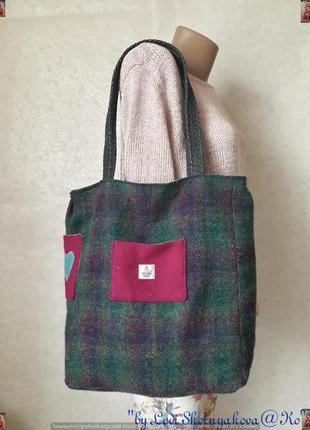 """Новая вместительная стильная сумка-шоппер с плотной ткани """"сер..."""