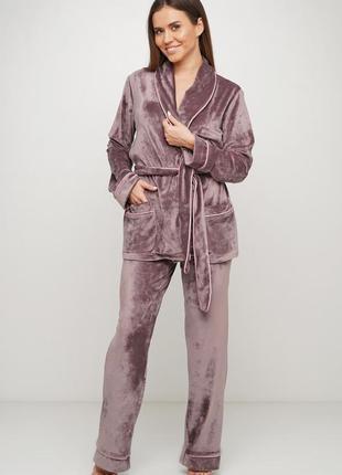 Велюровый костюм для дома. костюм новый пижама штаны и пиджак ...