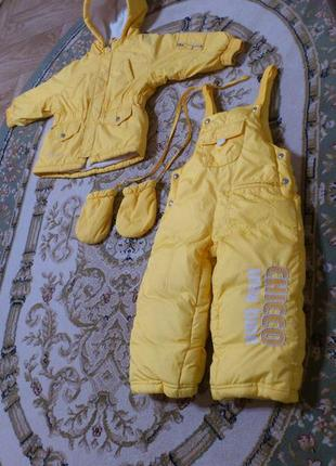 Зимний термо костюм: куртка и полукомбинезон chicco thermore