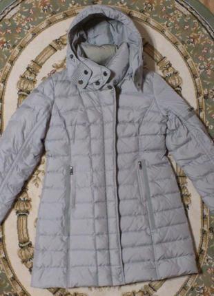 Пуховик женский зимний удлиненный на перьевой подкладке куртка...
