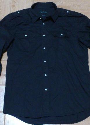 Оригинальная черная рубашка сорочка calvin klein кельвин кляйн