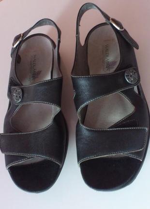 Босоножки кожаные женские черные сандалии waldläufer босоніжки...