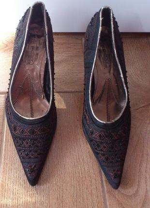 Туфли женские черные босоножки босоніжки туфлі жіночі чорні sp...