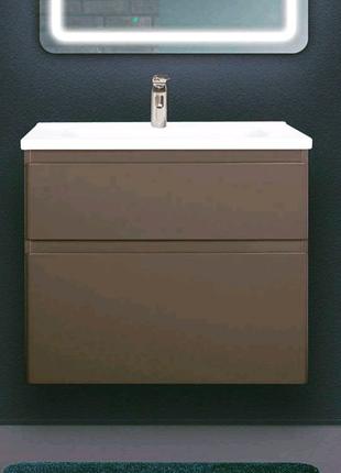 Мебель для ванной, тумба с раковиной, умывальник, зеркало, пенал