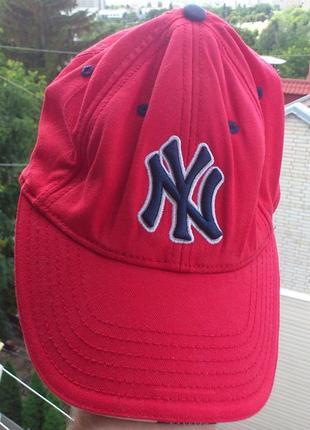 Кепка красная бейсболка червона cap new york yankees