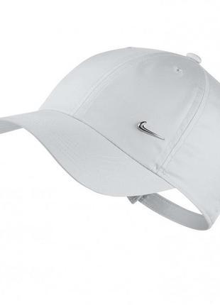 Кепка белая бейсболка cap nike heritage86 metal swoosh logo (3...