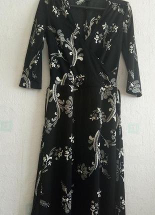 Платье в цветочный узор h&m