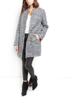 Легкое твидовое пальто new look