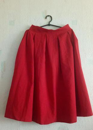 Распродажа! юбка миди в складку красная lipinskaya brand