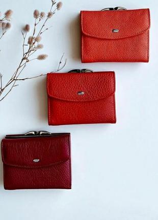 Кожаный кошелек женский небольшой жіночий маленький гаманець
