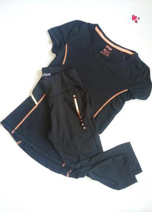 Комплект crivit для спорта,капри и футболка, одежда для фитнеса
