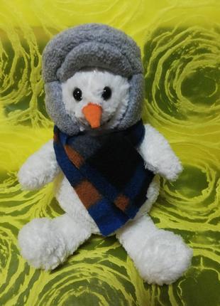 Снеговичок-добрячок мягкая игрушка