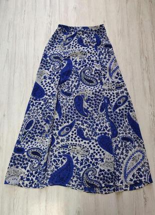 Sale распродажа  до 30 июня 🔥  сине белая длиная юбка с разрезами