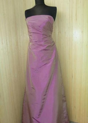 Шелковое вечернее платье с корсажем monsoon
