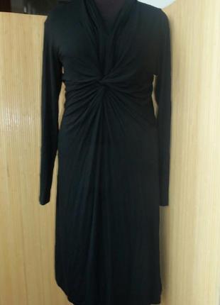 Чёрное трикотажное платье под грудь seventy Италия