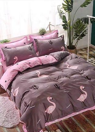 Постельное белье фламинго-2