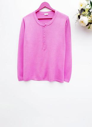 Нежно розовый свитер красивый нежный джемпер с пуговичками