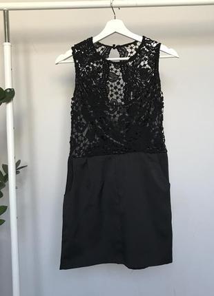Платье сарафан с кружевной спинкой