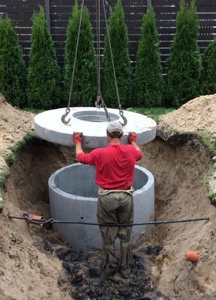Канализация из бетонных колец, автономная канализация