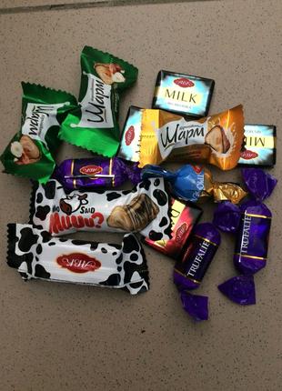 Конфета шоколадная авк в ассортименте