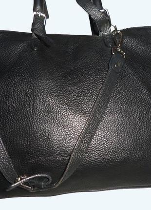 Стильная большая сумка натуральная кожа fairmount италия