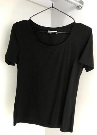 Футболка, черная базовая футболка.
