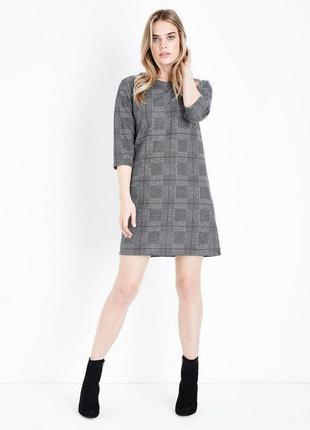 🔥 total sale 🔥стильное платье в клетку рукав 3/4 cameo rose