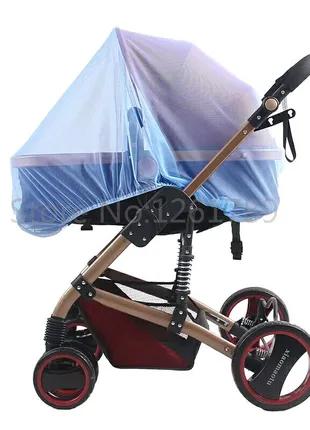 Москитная сетка для коляски цвет голубой