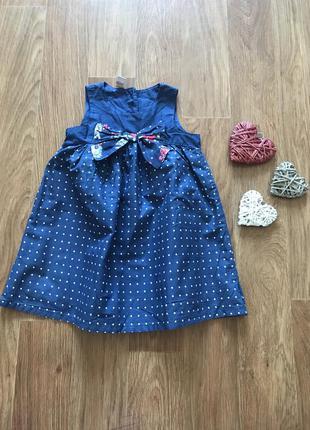 Стильное платье сарафан в горох tu 1,5-2 года
