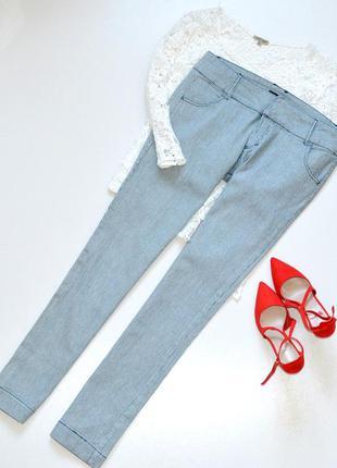 Классные джинсы прямые, сине-белые, в морском стиле,размер 16