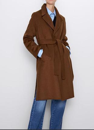 Пальто c поясом zara