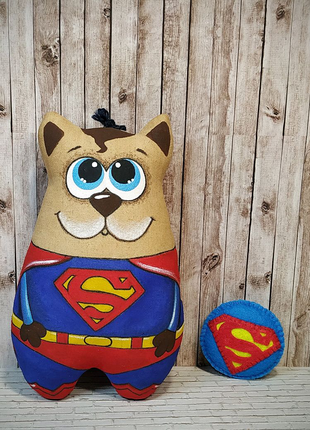 """Кофейная игрушка ручной работы """"Супермен"""""""