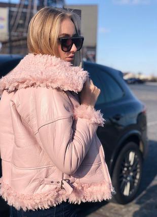 ⛔💣новые деми дублёнка- куртка с мехом
