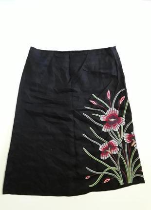 Фирменная льняная очень красивая юбка