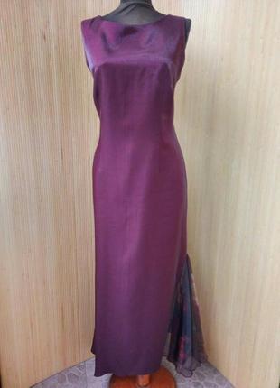 Атласное вечернее платье с кружевной вставкой merrytime