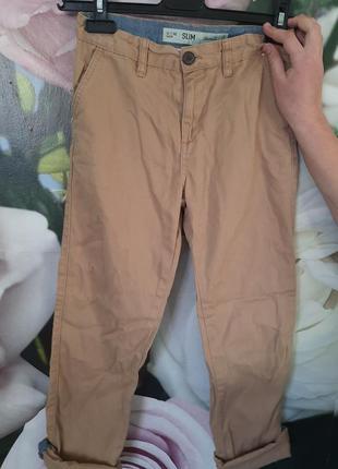Джинсы брюки мальчику слим скинни коттоновые штаны мальчику 14...